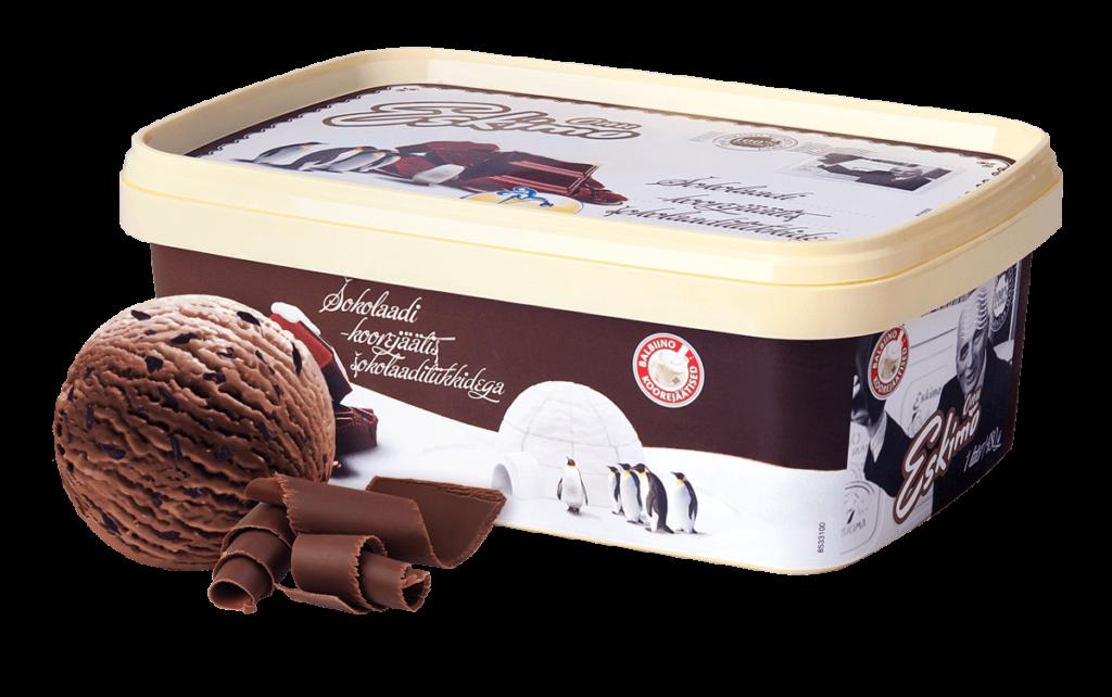 Onu Eskimo šokolaadi-koorejäätis šokolaaditükkidega