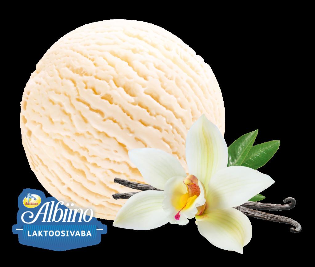 Laktoosivaba vanilli-koorejäätis