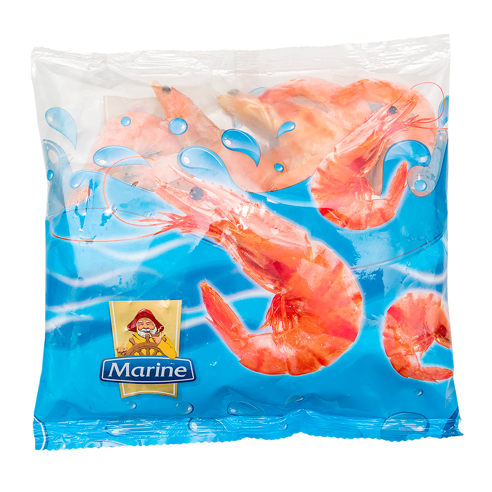 MARINE unpeeled king prawns 400g