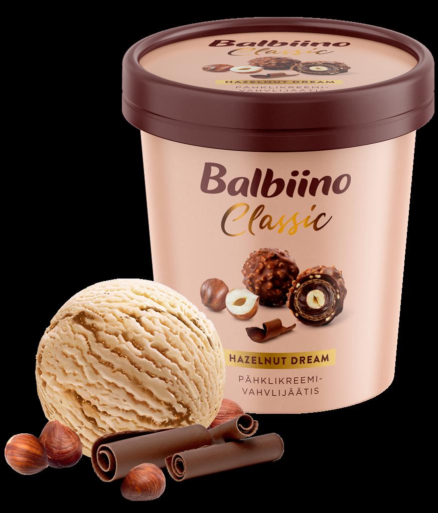 Balbiino Classic hazelnut creame ice cream with wafer pieces