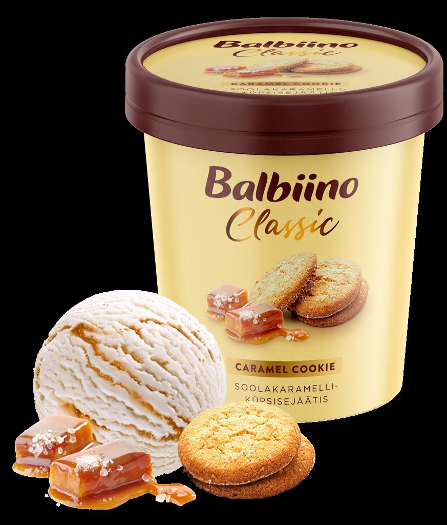 Balbiino Classic Soolakaramelli-küpsisejäätis
